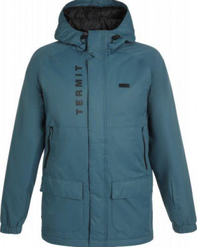 Утепленная синяя куртка на молнии Termit
