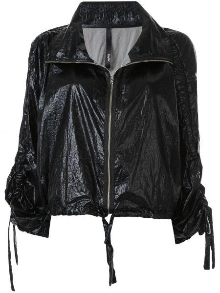 Черная куртка на молнии с манжетами с воротником Taylor