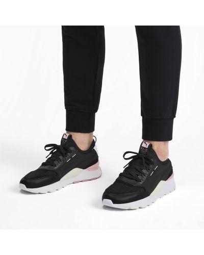 Текстильные черные кроссовки беговые для бега на шнуровке Puma
