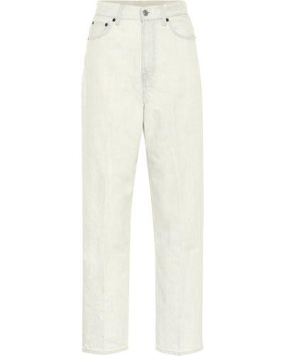 Ватные хлопковые белые джинсы Acne Studios