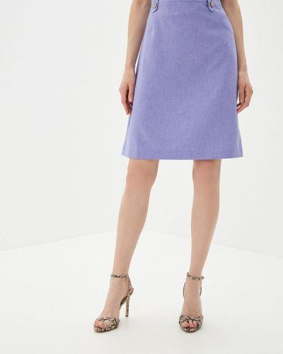 Юбка карандаш фиолетовый Yuna Style