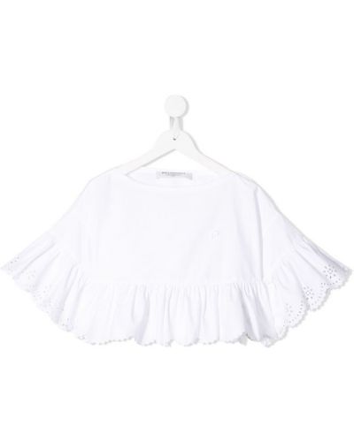 Расклешенная белая блуза Philosophy Di Lorenzo Serafini Kids