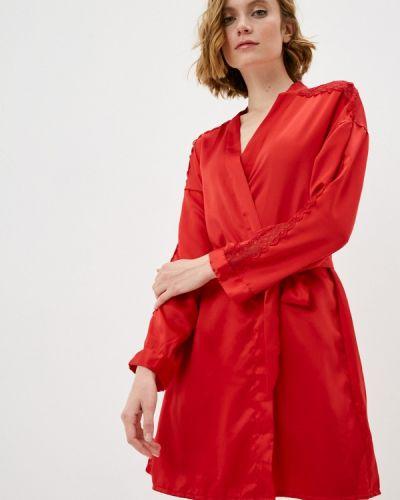 Кружевной красный домашний халат Hunkemoller