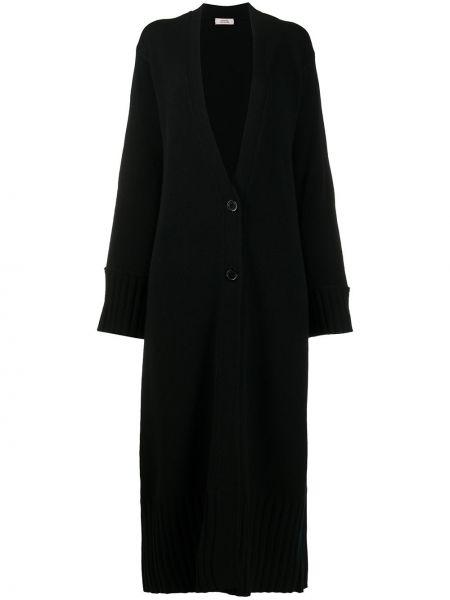 Черное кашемировое пальто на пуговицах Dorothee Schumacher