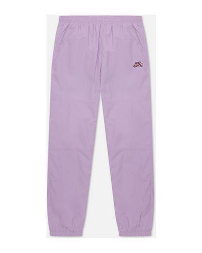 Фиолетовые зауженные брюки Nike Sb