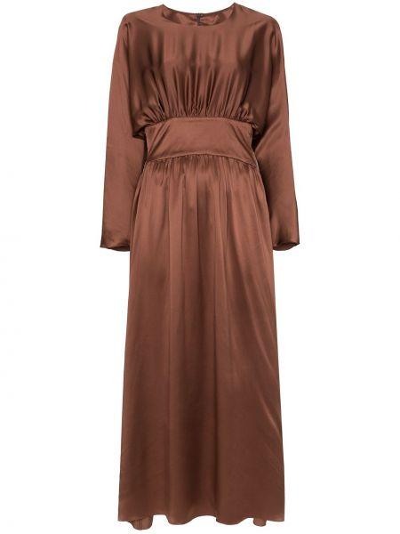 Плиссированное приталенное платье Deitas