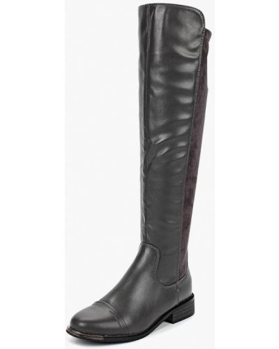 Ботфорты на каблуке кожаные Super Mode