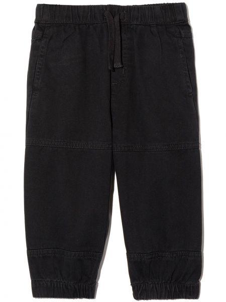 Czarne spodnie bawełniane Stella Mccartney Kids
