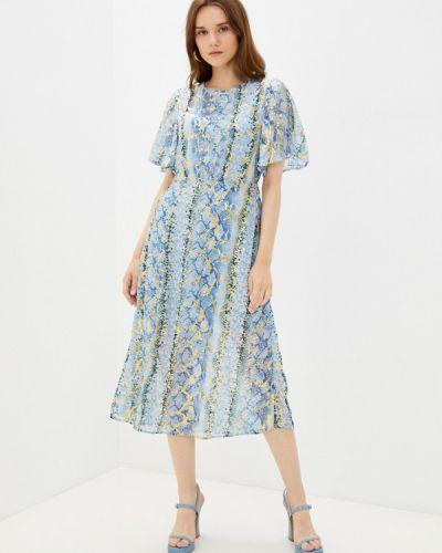 Голубое платье осеннее Zibi London