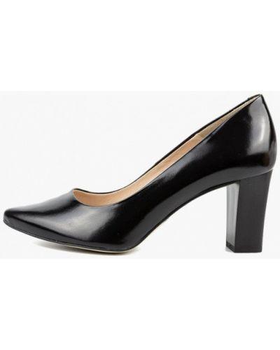 Кожаные туфли - черные Aspena