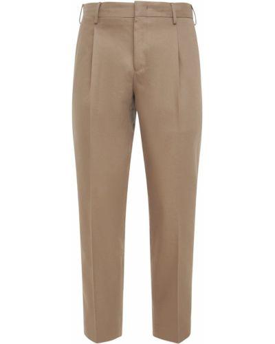 Brązowe spodnie bawełniane Pantaloni Torino