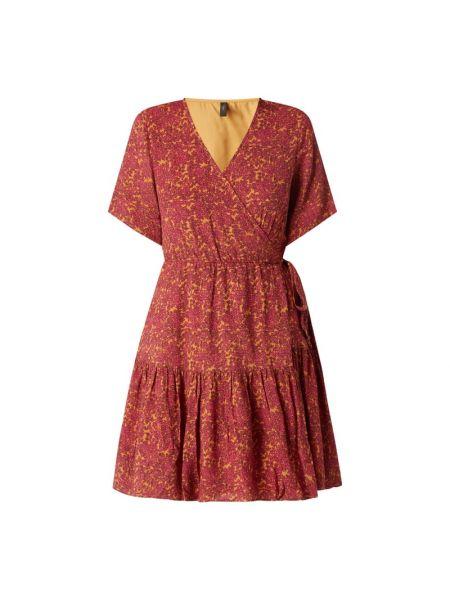 Różowa sukienka rozkloszowana z wiskozy Y.a.s