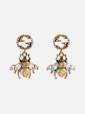Серьги-гвоздики золотые Gucci