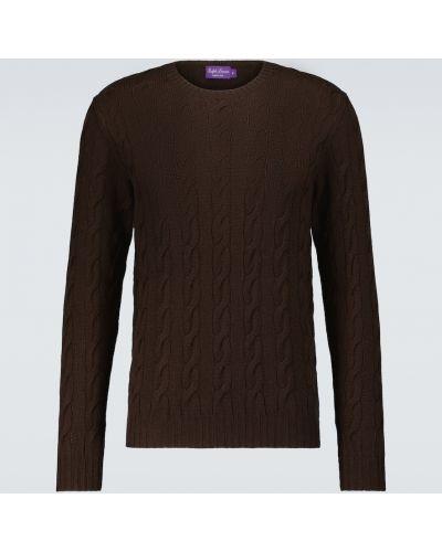 Малиновый кашемировый вязаный свитер Ralph Lauren Purple Label