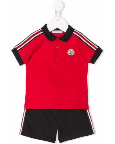 Спортивный костюм красный короткий Moncler Kids