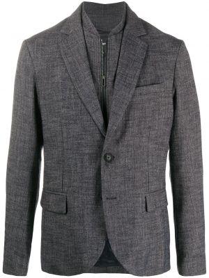 Синий пиджак на пуговицах из вискозы Emporio Armani