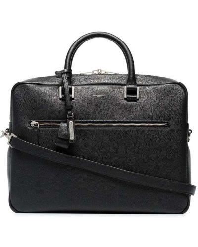 Портфель кожаный черный Saint Laurent
