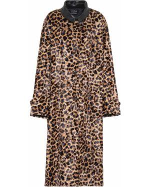 Длинное пальто леопардовый с принтом Rokh