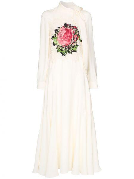 Платье шелковое ажурное Valentino