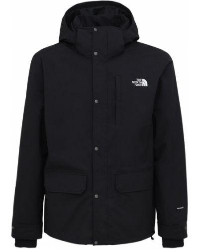 Флисовая черная куртка с капюшоном The North Face