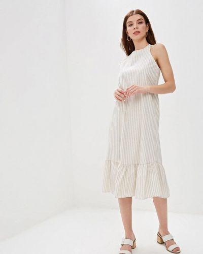 Платье прямое бежевое Kira Mesyats
