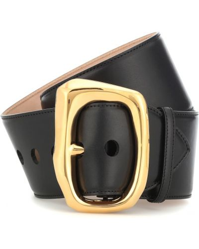 Кожаный черный ремень с поясом Alexander Mcqueen