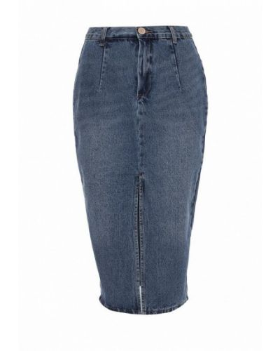 Юбка карандаш джинсовая весенняя Lost Ink.