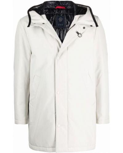 Белое длинное пальто Fay