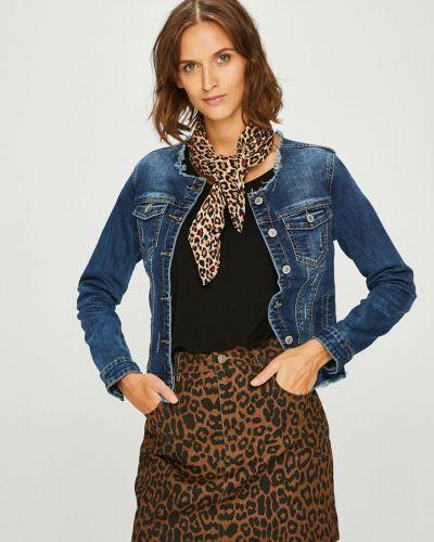 Джинсовая куртка утепленная укороченная Answear