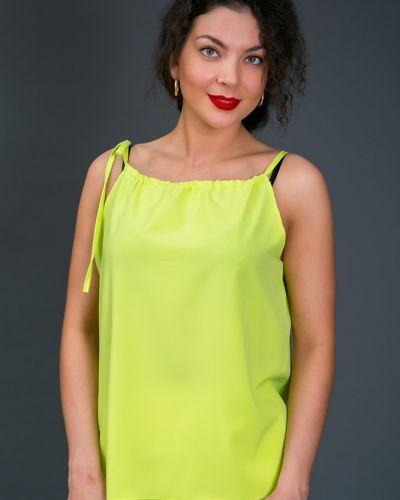 Текстильная свободная блузка свободного кроя Belirini