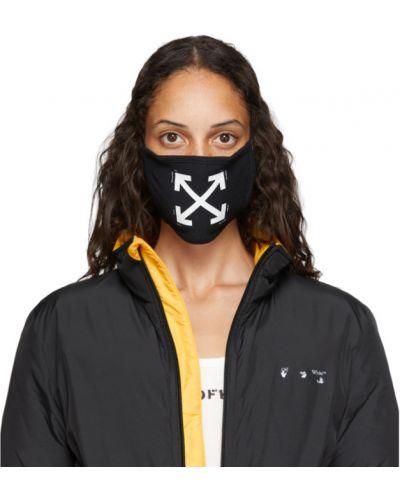Ze strzałkami bawełna bawełna czarny maska do twarzy Off-white