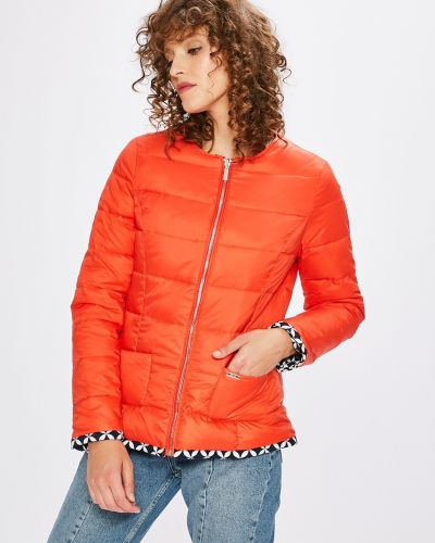 Прямая красная куртка двусторонняя Ochnik