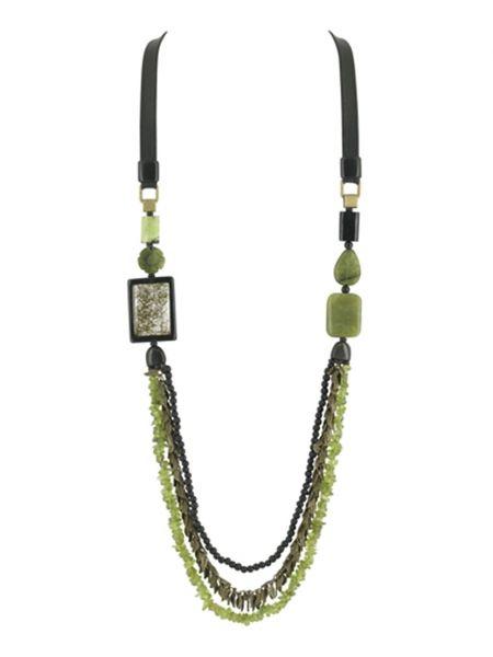 Зеленое ожерелье Nature Bijoux