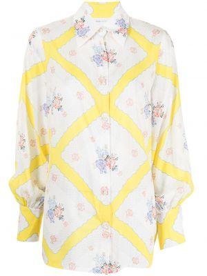 Шелковая блузка - желтая Alice Mccall