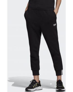 Джоггеры черный с манжетами Adidas