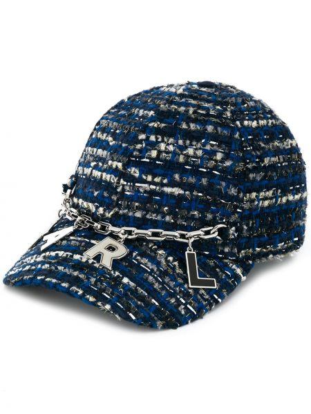 Niebieska czapka bawełniana Karl Lagerfeld