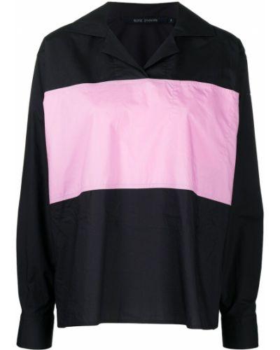 Хлопковая черная рубашка с длинными рукавами Sofie D'hoore