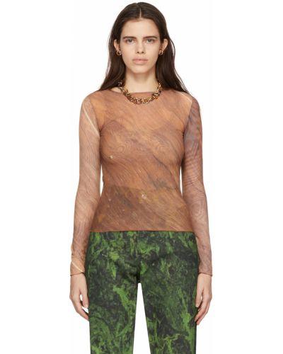 T-shirt z długimi rękawami - brązowa Serapis