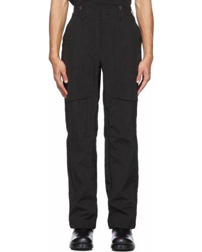 Czarne spodnie zapinane na guziki z nylonu Blackmerle