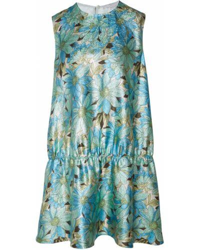 Платье мини на пуговицах с цветочным принтом Stella Mccartney