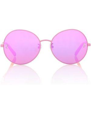 Розовые солнцезащитные очки круглые Stella Mccartney Kids