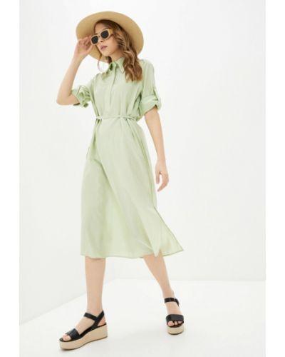 Зеленое платье-рубашка W.sharvel