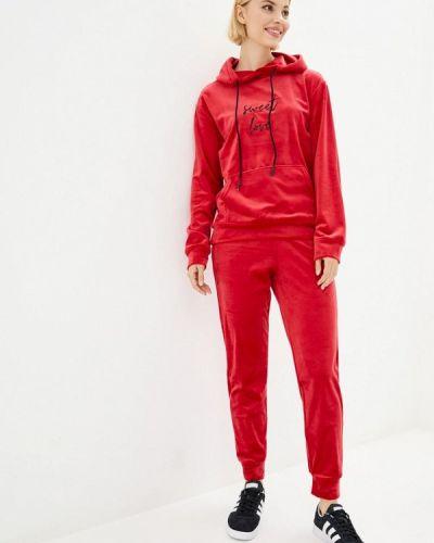 Костюмный красный спортивный костюм Lilove
