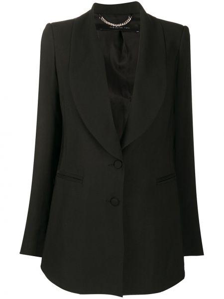 Однобортный черный пиджак с карманами Federica Tosi