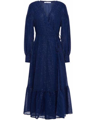 Синее платье миди на пуговицах с манжетами SamsØe Φ SamsØe