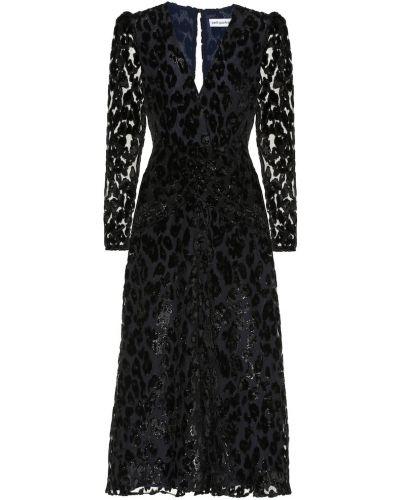 Платье миди с завышенной талией леопардовое Self-portrait