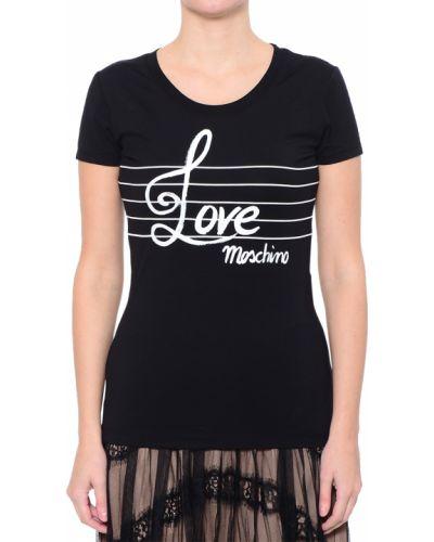 Черная футболка хлопковая Love Moschino