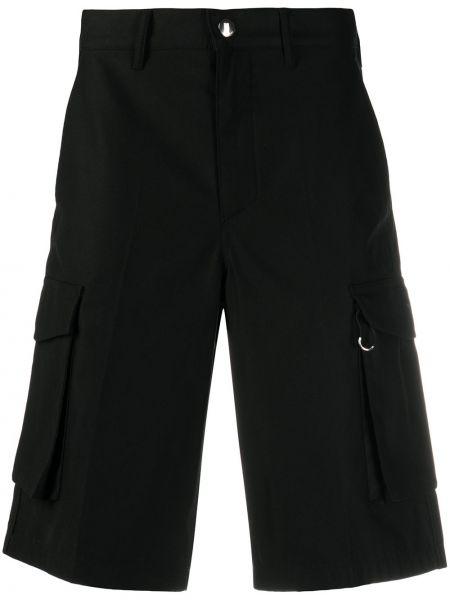 Bawełna bawełna szorty cargo z kieszeniami z łatami Givenchy