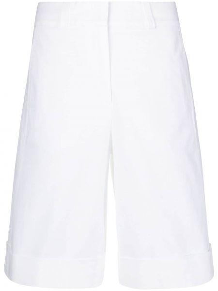 Хлопковые белые шорты с карманами Peserico