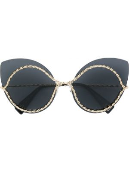 Черные солнцезащитные очки металлические Marc Jacobs Eyewear